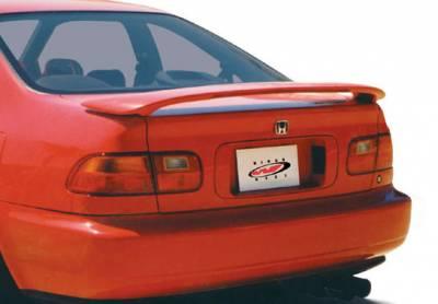 Spoilers - Custom Wing - VIS Racing - Honda Civic 2DR VIS Racing 2 Leg Wing with Light - 491051-2LL