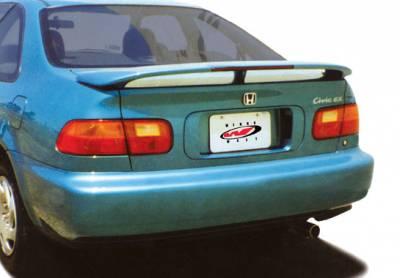 Spoilers - Custom Wing - VIS Racing - Honda Civic 2DR & 4DR VIS Racing 3 Leg Wing with Light - 491051L