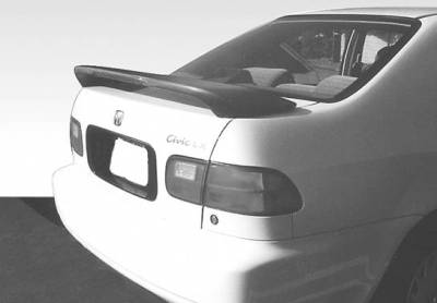 Spoilers - Custom Wing - VIS Racing - Honda Civic 4DR VIS Racing Factory Style Wing with Light - 49174L
