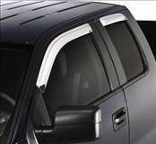 Accessories - Wind Deflectors - AVS - Ford F150 AVS Ventvisor Deflector - Chrome - 2PC - 682805