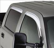 Accessories - Wind Deflectors - AVS - Chevrolet Silverado AVS Ventvisor Deflector - Chrome - 4PC - 684040