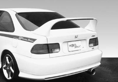 Spoilers - Custom Wing - VIS Racing - Honda Civic 2DR VIS Racing Super Style Wing with Light - 591035-V26L