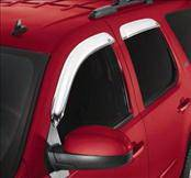 Accessories - Wind Deflectors - AVS - Chevrolet Tahoe AVS Ventvisor Deflector - Chrome - 4PC - 684095