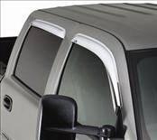 Accessories - Wind Deflectors - AVS - Chevrolet Colorado AVS Ventvisor Deflector - Chrome - 4PC - 684133