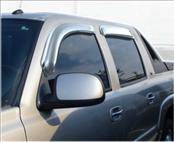 Accessories - Wind Deflectors - AVS - Chevrolet Avalanche AVS Ventvisor Deflector - Chrome - 4PC - 684355