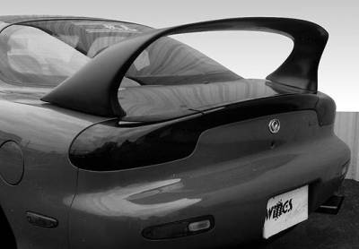 Spoilers - Custom Wing - VIS Racing - Mazda RX-7 VIS Racing Super Style Spoiler with light - 591057-V26L