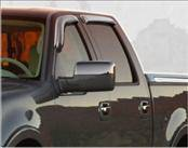 Accessories - Wind Deflectors - AVS - Ford F150 AVS Ventvisor Deflector - Chrome - 4PC - 684443