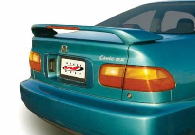 Spoilers - Custom Wing - VIS Racing - Honda Civic 2DR VIS Racing Custom Wing with Light - 591073L
