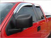 Accessories - Wind Deflectors - AVS - Ford F150 AVS Ventvisor Deflector - Chrome - 4PC - 684738