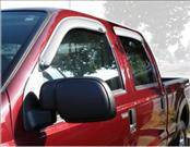 Accessories - Wind Deflectors - AVS - Ford Superduty AVS Ventvisor Deflector - Chrome - 4PC - 684953