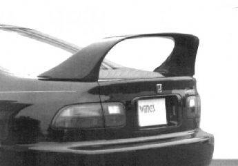 Spoilers - Custom Wing - VIS Racing - Honda Civic 2DR VIS Racing Super Style Wing with 26 inch Led Light - 591151-3V26L