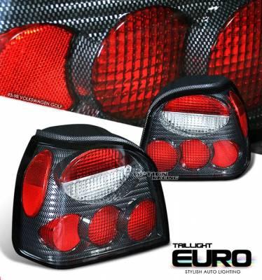 Headlights & Tail Lights - Tail Lights - Custom - GOLF MK3 CARBON ALTEZZA