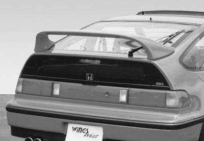Spoilers - Custom Wing - VIS Racing - Honda CRX VIS Racing Mid-Wing with Light -7 inch - 591208-V26L