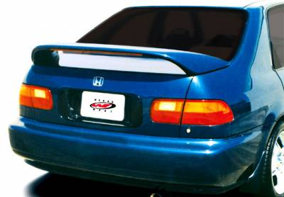 Spoilers - Custom Wing - VIS Racing - Honda Civic 4DR VIS Racing Thruster Style Wing with Light - 591220LL