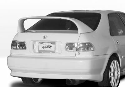 Spoilers - Custom Wing - VIS Racing - Honda Civic 4DR VIS Racing Super Style Wing with Light - 591240-V26L