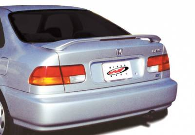 Spoilers - Custom Wing - VIS Racing - Honda Civic 2DR VIS Racing Factory Style Wing with Light - 591249L
