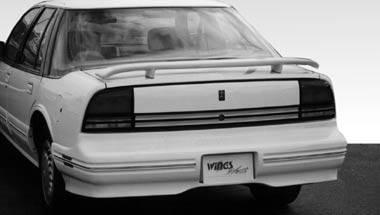 Spoilers - Custom Wing - VIS Racing - Oldsmobile Cutlass VIS Racing 2 Leg Custom Style Wing with Light - 591250L