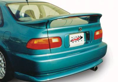 Spoilers - Custom Wing - VIS Racing - Honda Civic 2DR VIS Racing Custom Mid-Wing with Light - 3PC - 591253-V26L