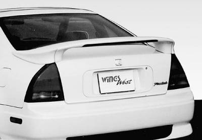 Spoilers - Custom Wing - VIS Racing - Honda Prelude VIS Racing Custom Mid-Wing with Light - 3PC - 591256-V26L