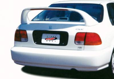 Spoilers - Custom Wing - VIS Racing - Honda Civic 4DR VIS Racing Mid-Wing with Light -7 inch - 591265-V26L
