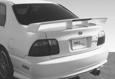 Spoilers - Custom Wing - VIS Racing - Honda Accord 2DR & 4DR VIS Racing Touring Style with Light - 591266L-7
