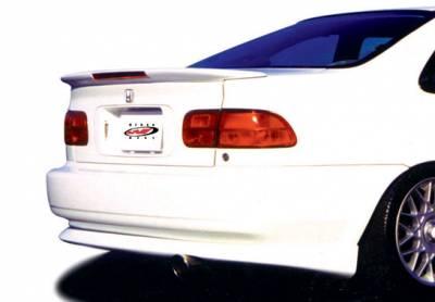 Spoilers - Custom Wing - VIS Racing - Honda Civic 2DR VIS Racing Custom Flushmount Wing with Light - 591271L
