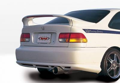 Spoilers - Custom Wing - VIS Racing - Honda Civic 2DR VIS Racing Custom Mid-Wing with Light - 3PC - 591282-V26L