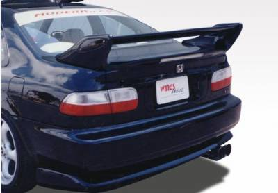 Spoilers - Custom Wing - VIS Racing - Honda Civic 2DR VIS Racing Adjustable Commando Style Wing with Light - 591351L