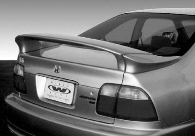 Spoilers - Custom Wing - VIS Racing - Honda Accord 2DR & 4DR VIS Racing Custom Mid-Wing with Light - 3PC - 591383-V26L