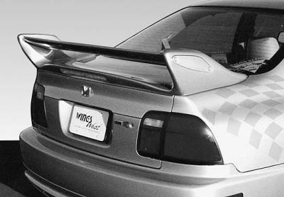 Spoilers - Custom Wing - VIS Racing - Honda Accord 2DR & 4DR VIS Racing Adjustable Commando Style Wing with Light - 591384L
