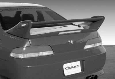 Spoilers - Custom Wing - VIS Racing - Honda Prelude VIS Racing Adjustable Commando Style Wing with Light - 591394L