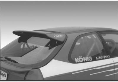 Spoilers - Custom Wing - VIS Racing - Honda Civic HB VIS Racing Type-R Roof Wing with Light - 591426L