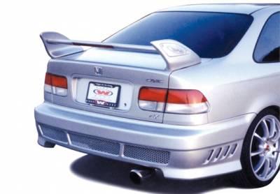 Spoilers - Custom Wing - VIS Racing - Honda Civic 2DR VIS Racing Shark Hi Wing with Light - 3PC - 591443L