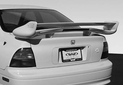Spoilers - Custom Wing - VIS Racing - Honda Accord 2DR & 4DR VIS Racing Commando Type 2 Wing with Light - 591452L