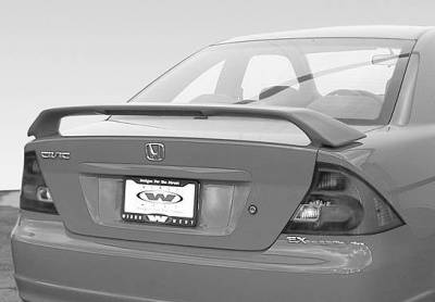 Spoilers - Custom Wing - VIS Racing - Honda Civic 2DR VIS Racing Factory Style Wing with Light - 591512L