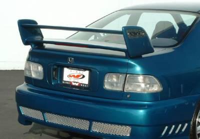 Spoilers - Custom Wing - VIS Racing - Honda Civic 2DR VIS Racing Sky-Liner Style Wing - 591554L