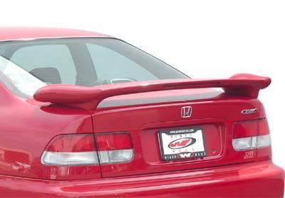 Spoilers - Custom Wing - VIS Racing - Honda Civic 2DR VIS Racing Bullet Series Wing with Light - 591584L