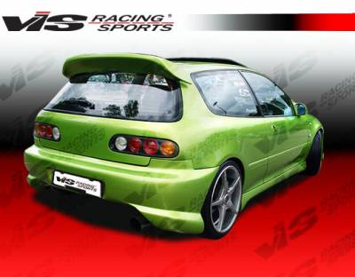Spoilers - Custom Wing - VIS Racing - Honda Civic HB VIS Racing Ballistix Spoiler - 92HDCVCHBBX-003