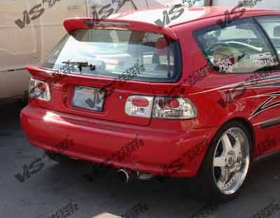 Spoilers - Custom Wing - VIS Racing - Honda Civic HB VIS Racing Type S Spoiler - 92HDCVCHBSPN-003