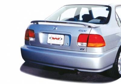 Spoilers - Custom Wing - VIS Racing - Honda Civic 4DR VIS Racing Custom 2 Leg Wing with Light - 960008L-6