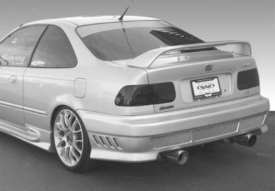 Spoilers - Custom Wing - VIS Racing - Honda Civic 2DR VIS Racing Factory Style High Wing with Light - 960041L