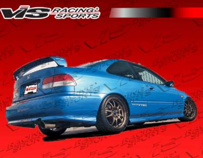 Spoilers - Custom Wing - VIS Racing - Honda Civic 4DR VIS Racing Techno-R 1 Spoiler - 96HDCVC4DTNR1-003