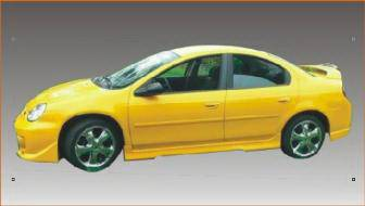 Neon 4Dr - Side Skirts - Bayspeed. - Dodge Neon 4DR Bay Speed EVO 5 Style Side Skirts - 1199EV5