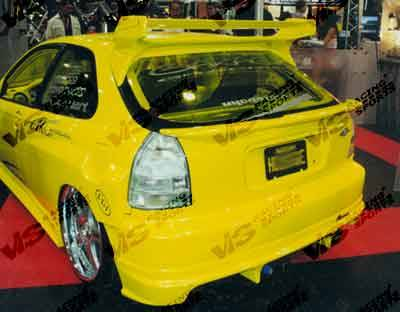 Spoilers - Custom Wing - VIS Racing - Honda Civic HB VIS Racing Quest Spoiler - 96HDCVCHBQST-003