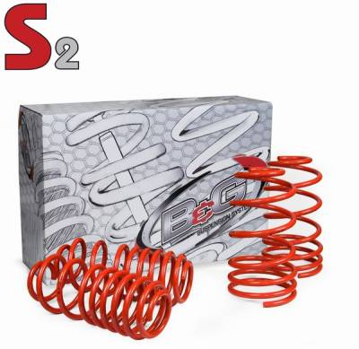 Suspension - Lowering Springs - B&G Suspension - Pontiac Firebird B&G S2 Sport Lowering Suspension Springs - 12.1.007