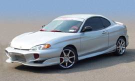 Tiburon - Side Skirts - Bayspeed. - Hyundai Tiburon Bay Speed Invader Style Side Skirts - 1201NV