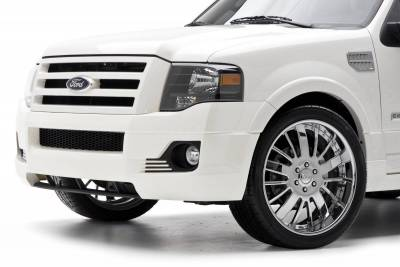 Expedition - Front Bumper - 3dCarbon - Ford Expedition 3dCarbon Front Bumper Replacement - 691256