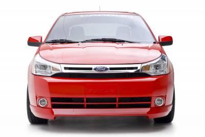 Focus 4Dr - Front Bumper - 3dCarbon - Ford Focus 4DR 3dCarbon Front Air Dam - 691544