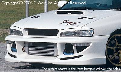 C-West - Front Bumper With Fog Screw Holes 1.8 & 2.2l