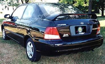 Spoilers - Custom Wing - California Dream - Hyundai Accent 4DR California Dream Custom Style Spoiler with Light - Unpainted - 26L